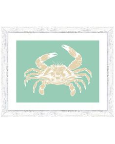Teal Crab Print  is on Rue. Shop it now.