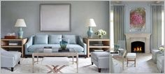Get inspired by Modern Living Room Design photo by Tobi Fairley Interior Design. Wayfair lets you find the designer products in the photo and get ideas from thousands of other Modern Living Room Design photos. Blue Couch Living Room, Living Room Decor, Living Rooms, Light Blue Couches, Best Gray Paint Color, Color Blue, Blue Grey, Paint Colors, Beige Color