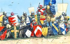 "The landing at Damietta during the Seventh Crusade"", Artist Zvonimir Grbasic. Medieval World, Medieval Knight, Medieval Armor, Medieval Fantasy, Armadura Medieval, Friedrich Ii, Knight Art, Fantasy Battle, Renaissance Era"