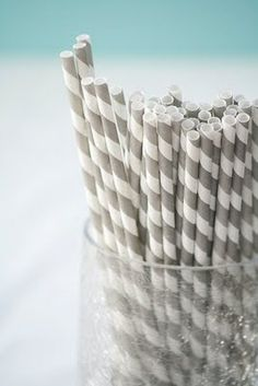 #Striped #paper #straws