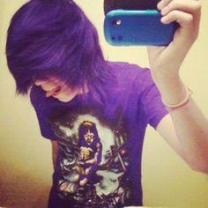 scene boys with purple hair - Google Search