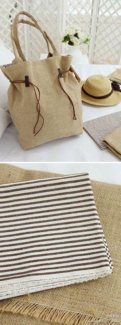 粗麻布做的包包是不是也十分的fashion