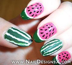 watermelon 1 nail art