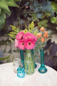 Pink green orange turqouise