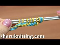 Thick Cast On Edge Tutorial 1 Method 14 of 18 Knitting Cast-On - YouTube