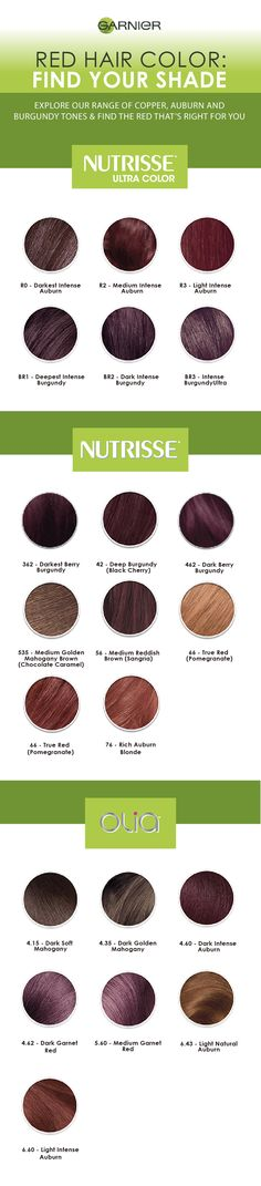 Explore our range of copper, auburn and burgundy tones, and find the most complementary red shade for your current hair color and skin tone.