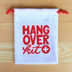 Bachelorette party favor - Hangover kit bag