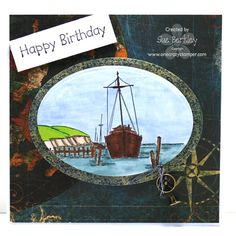 Art Impressions Stamps: Boatyard birthday card.  Would be a great Father's Day card too.