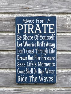 Nautical Nursery Sign Kids Pirate Room Decor Beach Bedroom Wall Art Coastal Gift Advice Pirate Ocean Plaque Children Boys Girls Bathroom