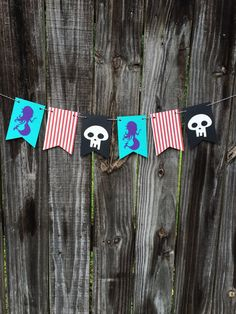 Pirate and Mermaid Banner Neverland Pirates by BostonsTerrier