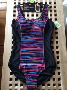 M&S Shaping Solutions Swimsuit UK12 Long TUMMY CONTROL BNWT soft foam padded cup