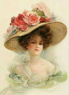 Victorian Lady 3 Cross Stitch Pattern PDF by lisalskinner on Etsy Vintage Abbildungen, Floral Vintage, Images Vintage, Photo Vintage, Vintage Ephemera, Vintage Girls, Vintage Pictures, Vintage Paper, Vintage Postcards