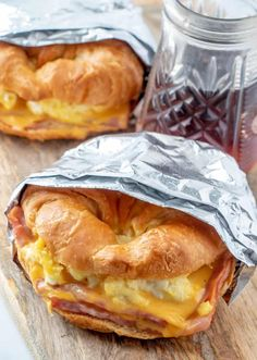 Easy Croissant Breakfast Sandwiches - The Perfect Breakfast! Easy Croissant Breakfast Sandwiches - The Perfect Breakfast!,leckeres Essen Overhead shot of Croissant Breakfast Sandwiches with syrup in background recipes recipes meals ideas recipes Breakfast And Brunch, Croissant Breakfast Sandwich, Perfect Breakfast, Breakfast Dishes, Breakfast Sandwich Recipes, Good Breakfast Ideas, Eggs For Breakfast Sandwiches, Camping Breakfast Recipes, Simple Breakfast Recipes