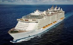 """The """"Allure of the Seas"""" is, together with its sister """"Oasis of the Seas"""", the world's largest passenger vessel. With 361m in length, 66m in breadth and 72m in height, this vessel has a maximum capacity of 6 360 passengers on 16 passenger decks and 2 100 members of staff. Built by STX Europe in Finland, the """"Allure of the Seas"""" is the most important single product ever exported from Finland."""