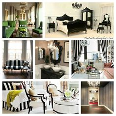 French Decor: black and white stripes on TheEnchantingLife.com
