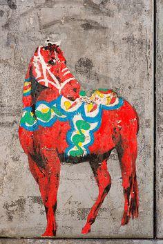 Street Art Dala Horse by Kalexanderson, via Flickr