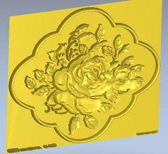 3d model relief  for cnc in STL file format Rose_5 #Affiliate