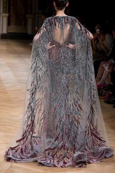 "runwayandbeauty: "" Back Detail: Ziad Nakad Haute Couture Fall/Winter "" Couture Fashion, Runway Fashion, High Fashion, Fantasy Gowns, Zuhair Murad, Mode Inspiration, Looks Style, Marchesa, Couture Dresses"