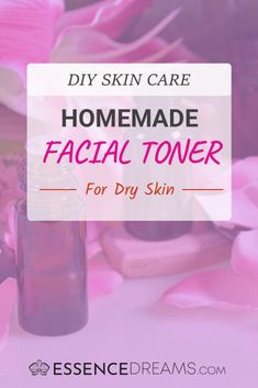 DIY Facial Toner for Dry Skin with Essential Oils DIY Facial Toner Recipe for Dry Skin – Easy homemade natural skin care with essential oils! Get rid of flaky skin with this hydrating toner. Homemade Facials, Homemade Skin Care, Diy Skin Care, Homemade Toner, Anti Aging, Hydrating Toner, Cleanser, Moisturizer, Clear Skin Tips