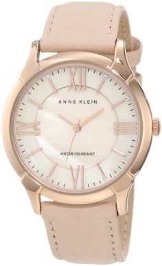 Anne Klein Women's AK/1010RGLP Leather Swarovski Crystal Accented Rosegold-Tone Peach Watch  ---  Price : $55.45   ----   Total Reviews : 40 -> http://girlwardrobe.com/?post_type=product&p=2383