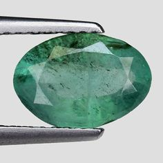 Other Emeralds 164398: 1.48Cts Green Oval Emerald Natural Loose Gemstone See Video -> BUY IT NOW ONLY: $111 on eBay!