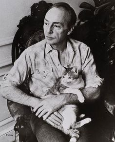 "Cat with George Balanchine, one of the greatest balletic choreographers of the 20th c., and Russian forefather of, ""The New York City Ballet""."