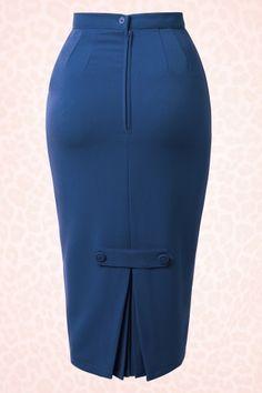 Joni Skirt in Navy Bunny Pencil Skirt 120 20 14666 20150218 Pencil Skirt Dress, Pencil Skirt Outfits, High Waisted Pencil Skirt, Dress Skirt, Pencil Skirts, Fashion Models, Fashion Outfits, Fashion Goth, Latest African Fashion Dresses