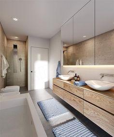 Projekt domu Hiacynt 210,18 m2 - koszt budowy - EXTRADOM Alcove, House Plans, Bathtub, How To Plan, Bathroom, Modern, Projects, Style, House Ideas