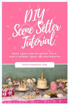 Just what I needed to pull my party together. This tutorial gave all the info to make the perfect background for my dessert table!