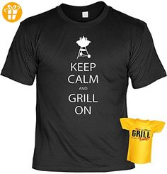 Keep calm and Grill on - Männer Grillen T-Shirt mit Mini Shirt It´s Grill Time - Gourmet BBQ Geschenk Set für Ihn (*Partner-Link)