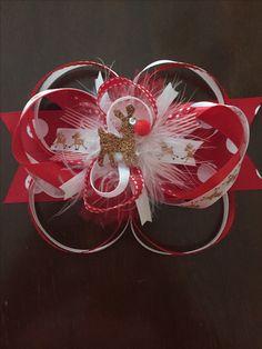 Rudolph hairbow 🎄 🎀