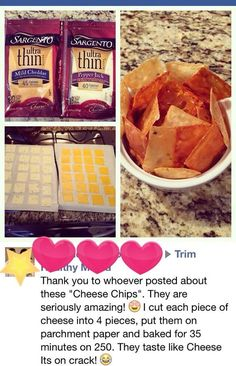 THM S easy snack. Low carb cheez-it. - Cheese Chips - Ideas of Cheese Chips - Cheese chip. THM S easy snack. Low carb cheez-it. Low Carb Keto, Low Carb Recipes, Snack Recipes, Cooking Recipes, Easy Keto Recipes, Cheesy Recipes, Cetogenic Diet, Diet Coke, Desserts Keto
