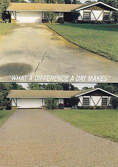 Concrete Resurfacing, Concrete Coatings, Concrete Driveways, Walkways, Concrete Floors, Driveway Repair, Gravel Driveway, Driveway Ideas, Sidewalk Repair