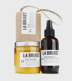 Stunning packaging developed by Stefaco Grape for cosmetics brand Lilla Bruket.