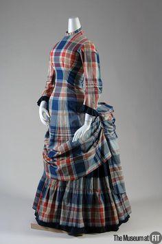Plaid Dress, circa 1880 via the Museum at FIT