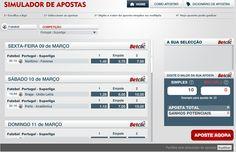 O Simulador de apostas é uma plataforma que permite às pessoas fazerem simulações das suas apostas sem qualquer risco. O objectivo é  dar a conhecer aos utilizadores o processo ainda antes de entrarem numa Casa de Apostas. http://www.simulador-betclic.com/