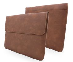 Snugg MacBook Pro 13 Wallet Case in Distressed Brown Leather