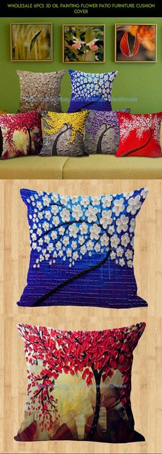 wholesale 6pcs 3D oil painting flower patio furniture cushion cover #patio #furniture #racing #parts #plans #gadgets #camera #fpv #products #kit #technology #shopping #drone #paint #tech