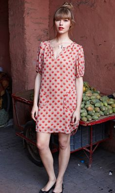 love the easy shape on this sack dress