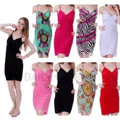 Women Summer Beach Dress Sarong Sexy Wrap Spring Swimwear Bikini Cover Up Pareo #DailyCharms #CoverUp