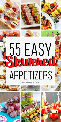 Fun Food Skewers For A Party – Kara's Party Ideas .com Fun Food Skewers For A Party Make your food prep a breeze with these delicious and visually sutnning fun food skewers for a party. Hosting a party has never been so easy or delicious. Skewer Appetizers, Cold Appetizers, Finger Food Appetizers, Appetizers For Party, Appetizer Recipes, Delicious Appetizers, Easy Summer Appetizers, Delicious Food, Individual Appetizers