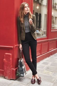 tomboy-chic-outfits From work dresses and skirts to jackets and pants, there are stylish work outfit Tomboy Formal Outfits, Business Casual Outfits, Office Outfits, Fall Outfits, Blazer Outfits, Office Wear, Trendy Outfits, Outfit Jeans, Office Attire
