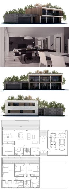 House Plans in Modern Architecture. Dream House Plans, Modern House Plans, Small House Plans, House Floor Plans, Building A Container Home, Container House Plans, Container Homes, Modular Home Plans, Modular Homes