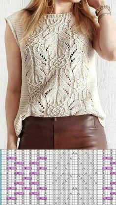 Lace Knitting Patterns, Knitting Stiches, Knitting Designs, Hand Knitting, Knitting Magazine, Summer Knitting, Knitwear Fashion, Knit Crochet, Latex Fashion