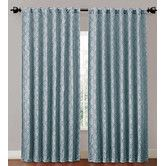 """Found it at Wayfair - Hensley Grommet Pocket Curtain Single Panel, SKU #: VQC1565. 100% Polyester. 84"""" H x 52"""" W, 4 lbs. color blue $19.38 panel,"""