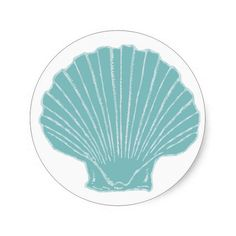 Sea Shell Wedding Envelope Seal Round Stickers
