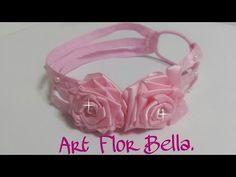 Tiaras de Fitas de cetim, e tecidos, exclusivas Art Flor Bella. - YouTube