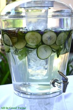 Cucumber Lavender Mint infused water recipe