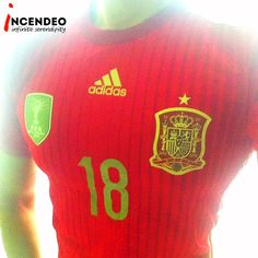 Adidas FIFA World Cup 2010 Spain Jersey. #adidas #fifa #worldcup #football #soccer #spain #jersey #18 #design #style #fit #clothing #fashion #sport #collections #collectible #incendeo #infiniteserendipity #阿迪达斯 #足球 #衣服 #西班牙 #世界盃 #收藏