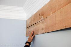 shiplap wall   $30 diy shiplap wall   how to plank a wall   planked wall   diy plank wall